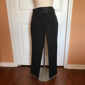 Nicole Miller pants with faux leather 10